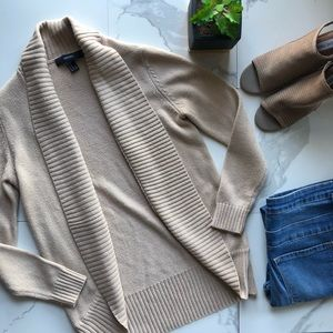 Forever 21 Tan Knit Open Cardigan